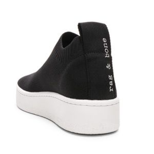 Black US 9 Rag & Bone Platform Slip on Sneakers